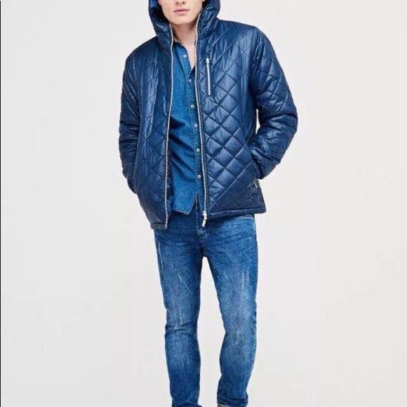 3c3d220116 Blue Reversible Jacket - NWT Boutique